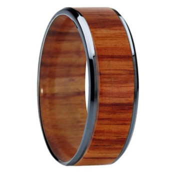 8 mm Unique Bands -  Tulip Wood Inlay & Sleeve - K121M-Tulip-Sleeve