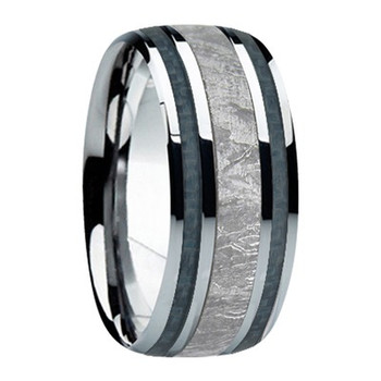 9 mm Meteorite, Mens Wedding Bands - M740FS-Gun Metal Gray