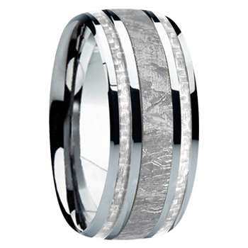 9 mm Meteorite, Mens Wedding Bands - M740FS-silver