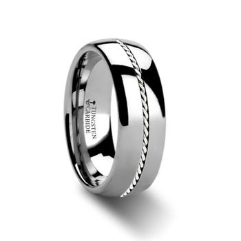 8 mm Tungsten/Palladium Wedding Band - B366TR