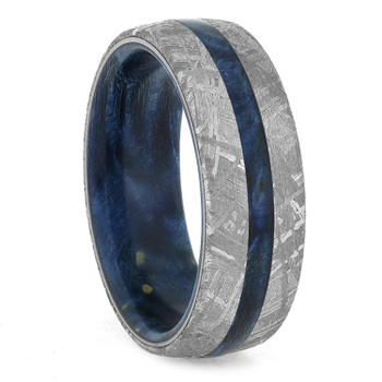 8 mm Meteorite with Blue Box Elder Sleeve  - BBEM857M