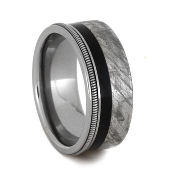 8.25 mm Meteorite/Ebony Wood/Guitar String in Titanium - GS404M