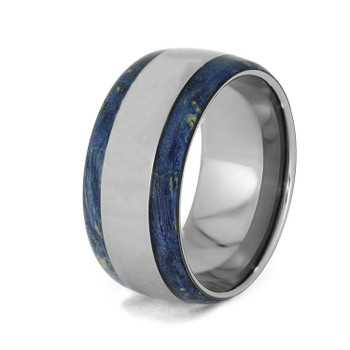 10 mm Titanium with Blue Box Elder Wood Inlay - BBE947M