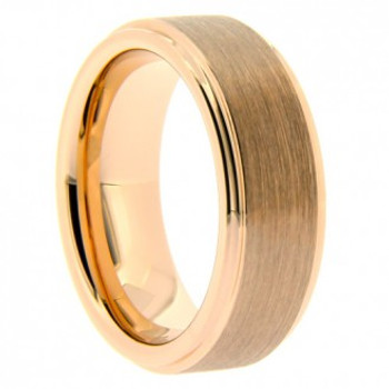 8 mm Rose Gold Tungsten Band - RG705WG