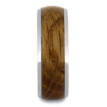 8 mm Unique Mens Wedding Bands Whiskey Barrel Inlay - WB029M