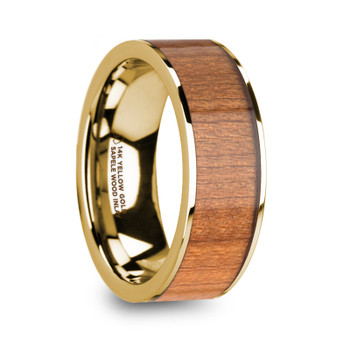 8 mm Sapele Inlay in 14 Kt. Yellow Gold - S525TR