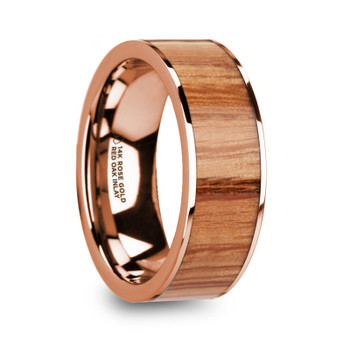 8 mm Red Oak in 14 Kt. Rose Gold - R043TR