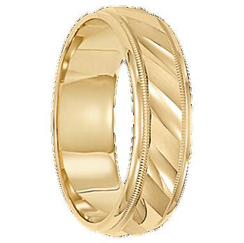 6 mm Mens Wedding Ring 10kt. Gold - Cologne