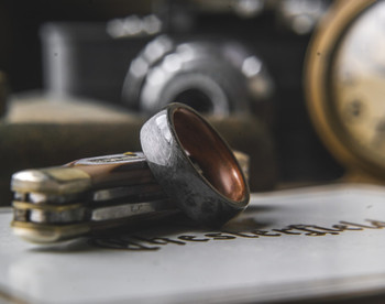 8 mm Santos Rosewood and Bird's Eye Maple Inlays Bentwood Ring - BW302
