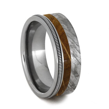 7 mm Meteorite/Whiskey Barrel Wood/Guitar String in Titanium - GS400M