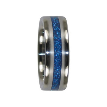8 mm Blue Metallic Inlay, Titanium - K900H