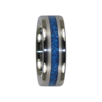 8 mm Blue Metallic Inlay, Titanium - K900H