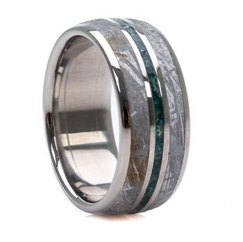 8 mm 5-Star Collection, 1 CWT Diamonds/Meteorite - MD780FS