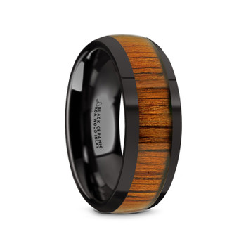 8 mm Black Ceramic and KOA Inlay - W065TR