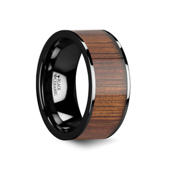 8 mm Black Ceramic and KOA Inlay - W005TR