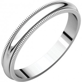 4 mm 14kt. Mens Wedding Bands in White Gold Handcrafted - Austin 14