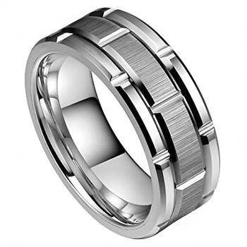 8 mm Tungsten Wedding Bands - U127C