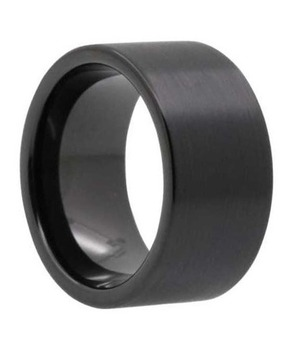 12 mm Mens Wedding Bands - Black Tungsten/Lifetime Warranty - C333BC