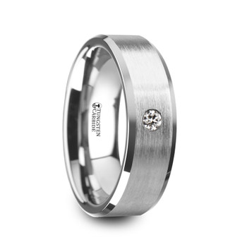 6 mm Tungsten Band with Diamond - P389TR