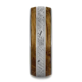 8 mm Meteorite/Whiskey Barrel in Titanium - WB245M