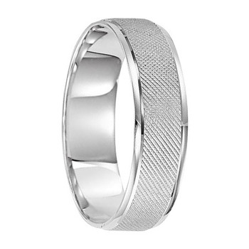6 mm 10kt. White Gold Handcrafted in U.S. - Seattle
