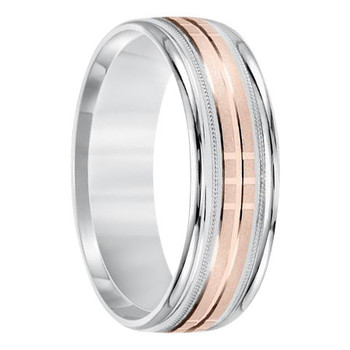 7 mm 10kt. White & Rose Gold Handcrafted in U.S. - Portland