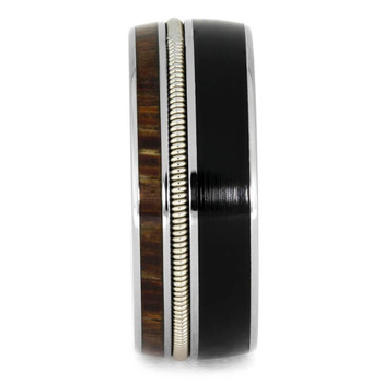 8.25 mm Unique Record Inlay - Red Palm Wood & Guitar String - LP961M