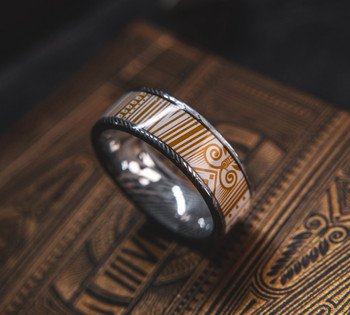 8 mm Damascus Steel/Copper designed by Jackson Robinson - KWP400B