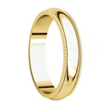 5 mm 14kt. Mens Wedding Bands in Yellow Gold Handcrafted - Brooklyn 14