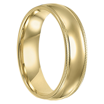 6 mm 14kt. Yellow Gold Handcrafted - Trenton 14