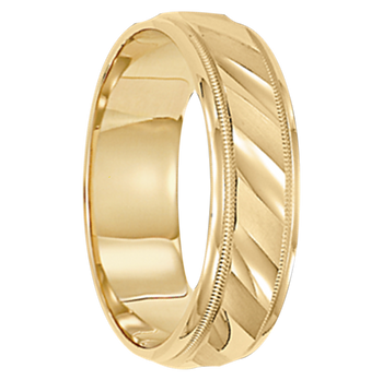 4 mm Mens Wedding Ring 10kt. Gold - Cologne