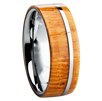 8 mm Titanium with Bamboo Inlay - B110M-Bamboo