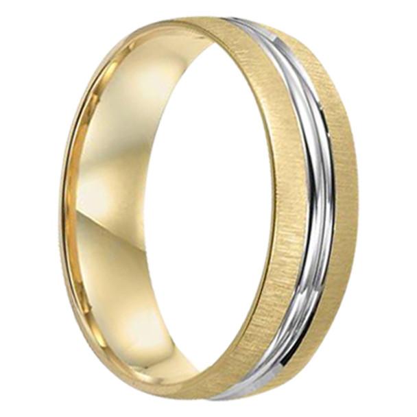 6 mm Mens Wedding Bands in 10 kt Gold - Chicago