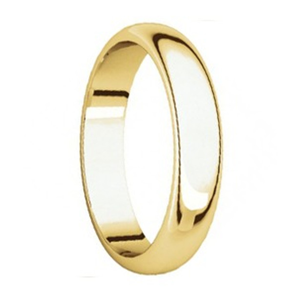 5 mm 10kt. Mens Wedding Bands in Yellow Gold Handcrafted - Lander 50G