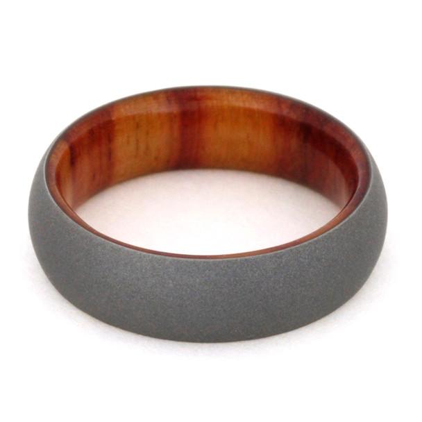 8 mm Titanium Ironwood Sleeve and Sandblasted Titanium - TW970M