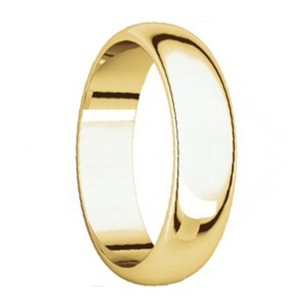 6 mm Mens Wedding Rings in 10kt. Yellow Gold Handcrafted - Lander 60G