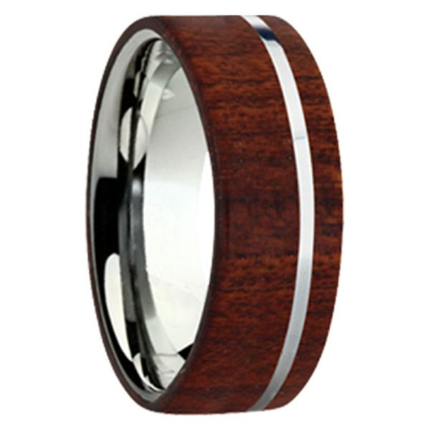 8 mm Exotic Wood in Titanium - K109M-Bloodwood
