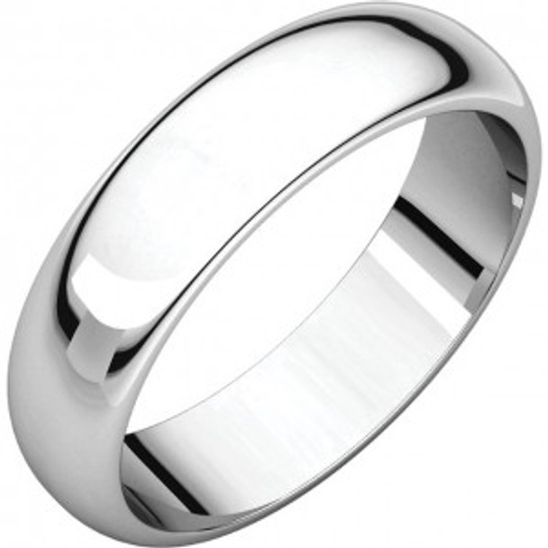 6 mm Mens Wedding Rings in 10kt. White Gold Handcrafted - Lander 60W