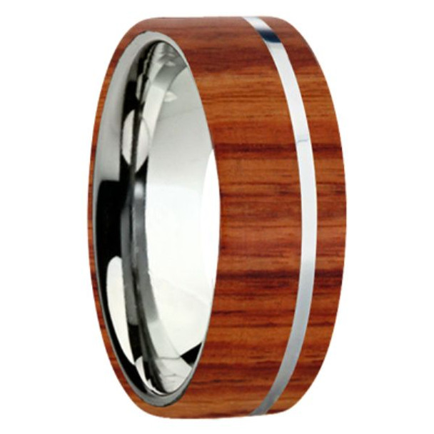 8 mm Exotic Wood in Titanium - K109M-Tulipwood