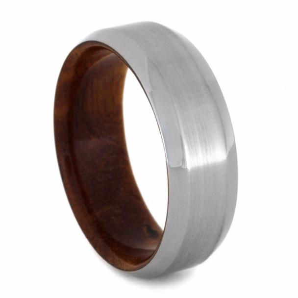8 mm Titanium Ironwood/Burl Wood Sleeve and Titanium - WS034M
