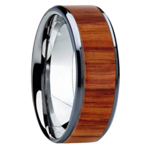 8 mm Unique Bands -  Tulip Wood Inlay - K121M-Tulip