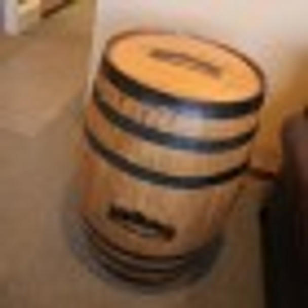 Authentic Jack Daniel's Whiskey Barrel shipped directly to us from the original factory in  Lynchburg, Tennessee.