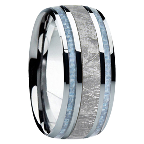 9 mm Meteorite, Mens Wedding Bands - M740FS-Blue