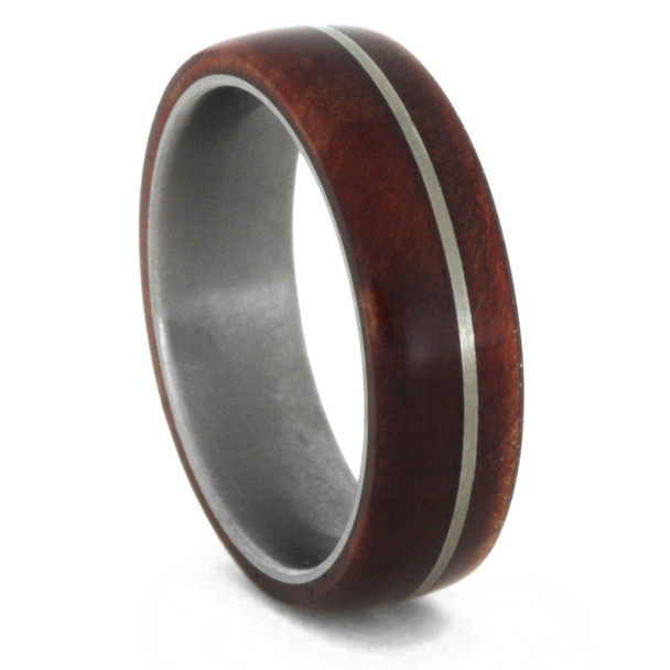 8 mm Exotic Wood in Titanium - K109M-RubyRed