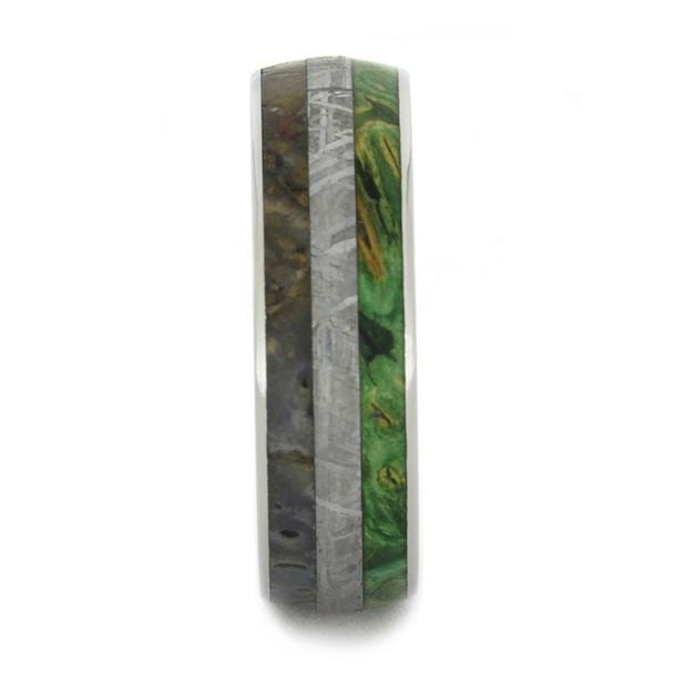 7 mm Titanium with Dinosaur Bone/Box Elder/Meteorite - DG190M