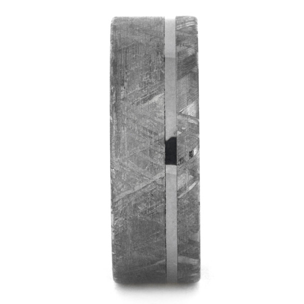 8 mm Meteorite with Ironwood Sleeve in Titanium - MS305M