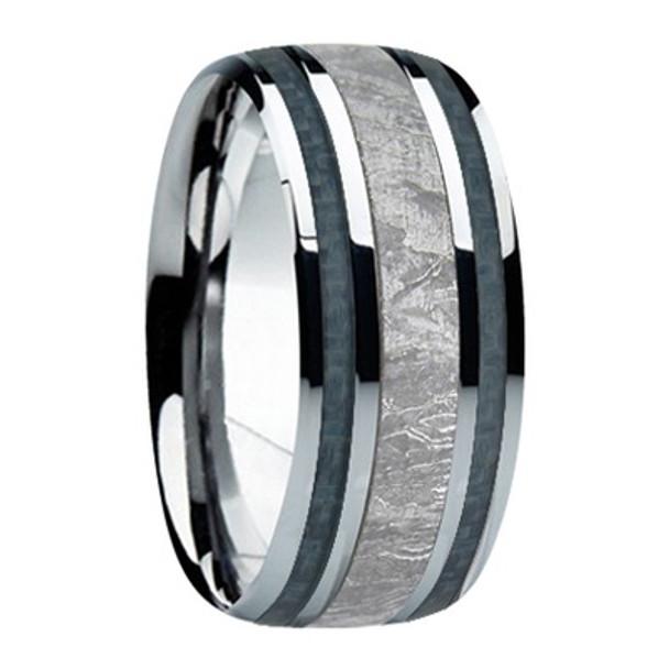 9 mm Meteorite, Mens Wedding Bands - M740FS-Gun Metal Gray