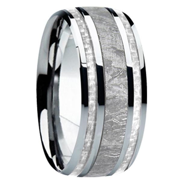 9 mm Meteorite, Mens Wedding Bands - M740FS-silver