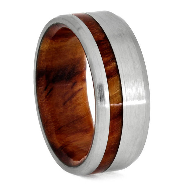 8 mm Tulipwood Sleeve and Brushed Titanium - T769M