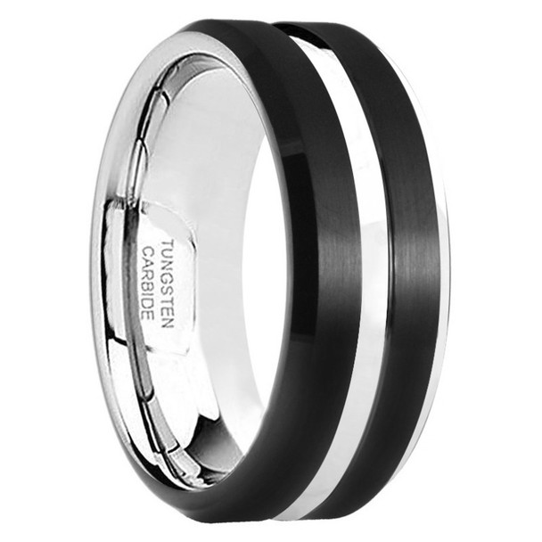 8 mm Black Tungsten Band, Lifetime Warranty - H555C